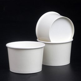 Wholesale Paper For Cup - 4oz Disposable Bowl Dishware Ice Cream Paper Cup For Holiday Party Restaurant Supplies Vegetable Packing Bowls Tableware 170lm C
