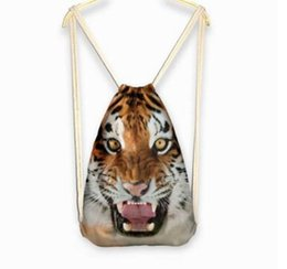 Wholesale Unique Canvas Backpacks - 2016 Classic Canvas Backpack Bags 3D Printed Unique Animal 3D Printed Outdoors Travel Shoulder Pouch Storage Bags Backpack Rucksack 97