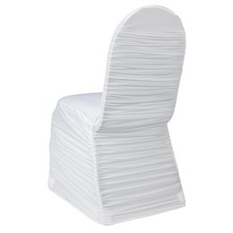 Wholesale Spandex Ruffle Chair Covers - wholesale cheap Lycra ruffled chair cover, 100 pcs per lots