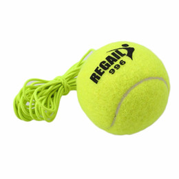 Branding tennisbälle online-Großhandels-REGAIL Nagelneues einzelnes Paket-Tennisball mit Schnur-Bohrgerät-Tennis-Trainer-Ersatz-Gummi-Trainings-Tennis-Ballgroßverkauf