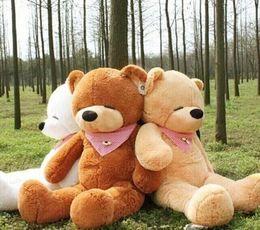 Wholesale 1m Teddy Bear Plush - 2015 New Large 1.6 Meters Teddy Bear Lovers Big bear Arms Stuffed Animals Toys Plush Doll 1.6CM 1.4CM 1.2CM 1M 80CM Sleepy Bear rilakkuma HX