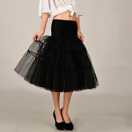 Wholesale Girl S Gown Ivory - 10 color Slip Underskirt Rockabilly Tutu Ball Gown Bone Full Crinoline Swing Tulle Petticoat Girl Wedding Skirt