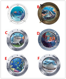 Wholesale Nemo Stickers Decals - Shark FINDING NEMO submarine Seaview children's room wall stickers removable waterproof 3D Cartoon Decal home decor