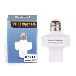 Wholesale rf 433mhz - Sonoff RF 433MHz Wireless Control Light Holder E27 Universal WiFi Light Lamp Bulbs Holder Smart Home Switch IOS Android 2608005