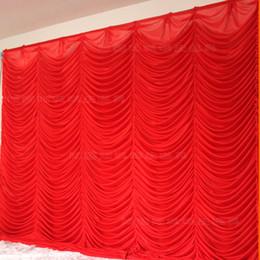Wholesale Curtain Lights For Wedding Backdrops - Wholesale 3x3m White&Red Wedding Backdrop Curtain for wedding decoration wedding Drape & pipe set wedding curtain backdrops