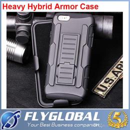 Canada Future Armour Impact Hybrid Étui rigide Clip ceinture Étui Kickstand Combo Pour iPhone 5 5S 6 6+ Plus 5.5 Samsung Galaxy S3 S4 S5 S6 Note 2 3 4 Offre
