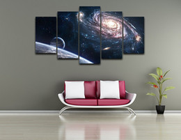 Wholesale Framed Space Art - Space Stars ,5 Pieces Home Decor HD Printed Modern Art Painting on Canvas (Unframed Framed)