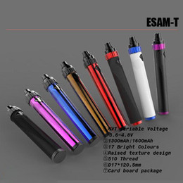Wholesale Ego T Variable Voltage - Great Quality ESAM-T 1300mAh ESAM-T 1600MAh Battery 3.6V-4.8V Variable Voltage eGo-C Twist Battery Better than Vision Spinner 2 3 Tesla