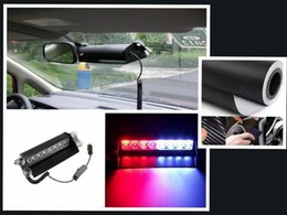 Wholesale Interior Dash Lights - High Quality 3-Mode 8LED Car Truck Dash Strobe Flash Emergency Police Warning Red Blue Light Interior Accessories