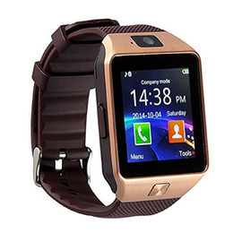 Wholesale Iphone Sd Slot - DZ09 Bluetooth Smart Watch Touch Screen with Camera and SIM Card TF SD Card Slot Pedometer Activity Tracker for iphone android phones