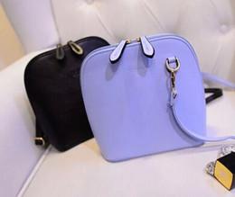 Wholesale Pure White Handbags - Wholesale-Hot-selling 2015 NEW female fashion PU cute pure candy color apple shell handbag women's shoulder bag