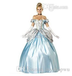 Wholesale Sissi Costume - Wholesale-European Court Dress Sissi Cosplay Costumes Halloween Snow White Suit A Cinderella Story Dress CO11