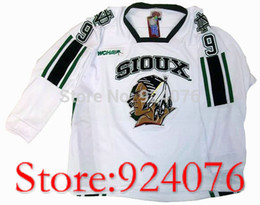 Wholesale North Homes - Factory Outlet, #9 JONATHAN TOEWS University NORTH DAKOTA Dakota Fighting Hockey Sioux Home Jersey White - Customized Any Name Number (XXS-6