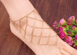 Модные кольца для ног онлайн-Леди мода пляж мульти кисточкой Toe кольцо цепи ссылка ноги ювелирные изделия ножной браслет цепи женщины подарок ювелирные изделия заявление 2015 новое прибытие 160243