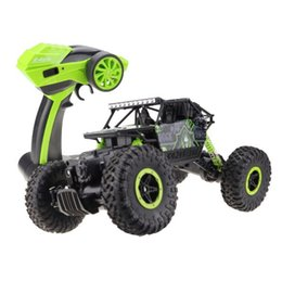 Wholesale Vehicle Unit - RC Car 4WD 2.4GHz Rock Crawlers Rally climbing Car 4x4 Double Motors Bigfoot Car Remote Control Model Off-Road Vehicle Toy