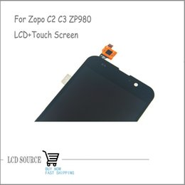 Wholesale Zopo Touch - Wholesale-Best Price For Zopo C2 C3 ZP980 MTK6589 6589T Full LCD Display Screen+Touch Screen Sensors Assembly Replacement With Free Tools