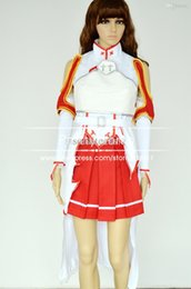 Wholesale Xs Clothing Online - Wholesale-Sword Art Online cosplay Asuna Yuuki cosplay costume women adult cosplay dress female halloween cosplay clothes suit F-0070