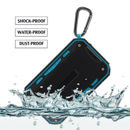 Wholesale High Quality Wireless Speakers - Mini Bluetooth Speaker Waterproof Outdoor Portable Speakers Subwoofer with Straps Stereo MP3 Player Support USB TF FM High Quality