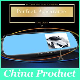 "Wholesale Dual Rear View Camera - HD 4.3"" LCD Dual Lens Video Dash Cam Recorder Car Camera DVR 3 In 1 Rearview Mirror+Front Car DVR+Rear view Camera 010229"