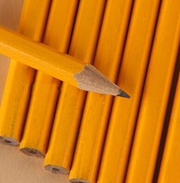 Wholesale Drawing Office Supplies - Free Shipping 50 pieces Standard HB Pencils with Eraser Drawing Painting Pen Wooden Pens School Office Supplies Papelaria