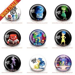 Wholesale Button Favors - 90Pcs Inside Out Pins Buttons Badges,3.0cm,Mixed 9 styles,Round Brooch Badges ,Kids Gift ,Party Favors,Free Shipping