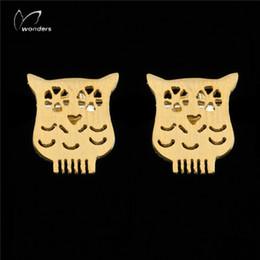 Wholesale Cute Stud Earrings Cheap - Wholesale 10Pcs lot 2017 Promotion Fashion Cheap Earrings Stainless Steel Jewelry Lot Earrings Cute Origami Owl 18K Gold Earrings For Women