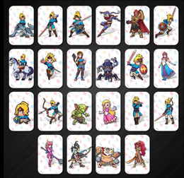 Wholesale Wholesale Kids Plastic Toys - Games Toys 22 pcs.   Set. Card NFC tag card Breath Wild 20 heart wolf link Fierce deity figures gifts