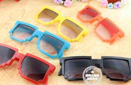 gli occhiali da sole di colore della gelatina Sconti bambini gelatina colore Mosaico moda occhiali da sole sole vetro per bambini di alta qualità