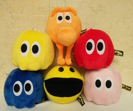Wholesale Doll Beans - 2015 new 6 Design Pixel Wars q-bert Eat bean Little ghost Plush Doll children Cartoon game Plush toys 8 inch CY2976