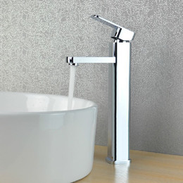 Wholesale Single Basin Mixer - FREE SHIPPING!Single Handle single hole Chrome Centerset Bathroom Sink Faucet .hot and cold basin mixer faucet. Best price 7002