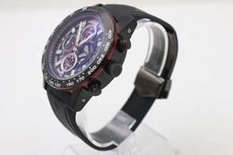 Wholesale Watch Silicone Quartz Wristwatch - Hot Sale Quartz Chronograph Men's Wristwatch Hollow Dial Tachymetre Analog Black Silicone Bezel &Skeleton Rubber Belt C6323 Male Watch