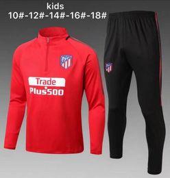 Wholesale Shorts Suits - 17 18 kids Atletico soccer tracksuit jackets madrid torres survetement chandal top quality training suit football boys sweatershirt shorts