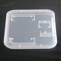 Wholesale Wholesalers For Plastics Storage - New useful 2 in 1 Transparent White Plastic Case Box For TF Micro SD Memory Card Memory Card Holder Box Storage Portable