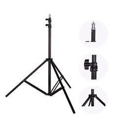 refletor de cabeça Desconto Estúdio de fotografia Ajustável 2 M (79in) tripé de pé de luz com 1/4 cabeça do parafuso para flash guarda-chuvas refletor de iluminação