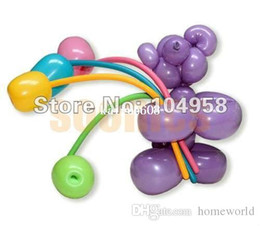 Wholesale Latex Balloon Animals - Free Shipping 600pcs lot Long Balloons Animal Tying Making DIY Decoration Latex Twist Assorted Party