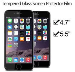 """Empaque protector de lcd online-2.5D 0.26mm 9H película de protector de pantalla de vidrio templado para iPhone 7 6 más 5.5 """"4.7"""" pantalla LCD transparente sin paquete al por menor"""