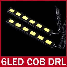 Fendinebbia nissan online-2X COB LED Bar Car Luce di marcia diurna ad alta potenza DRL Lampada di guida della nebbia bianca 3 LED 4 LED 5 LED 6 LED Modulo Chip 12V