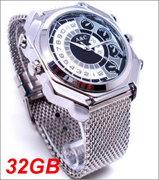 Wholesale Spy Watch Infrared - free shipping 32GB FS10 Spy Hidden Camcorder Voice Control Full HD1080P Infrared Night Vision Waterproof Watch Camera