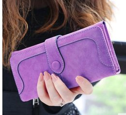 Wholesale Cheap Vintage Clutches - 2018Fashion PU Women Wallet Multifunctional Wallet for Women Vintage Ladies Clutch Thin Cheap Coin Purse Card Holder