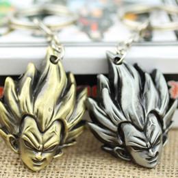 Wholesale Deformed Toys - Factory Direct Sales Dragon Ball Z Super Deformed Goku Metal Keychain NEW Toys DBZ Keyring 12 Pcs lot