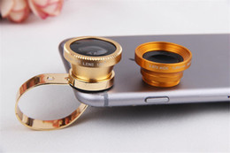 Wholesale S4 Eyes - The latest Generation Universal Metal 3 in 1 Clip-On Fish Eye Lens Wide Angle Macro Mobile Phone Lens For iPhone 6 6Plus 5S 5C Samsung S5 S4