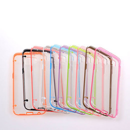 Wholesale Galaxy S4 Bumper Cases - For Samsung Galaxy S6 G9200 S5 I9600 S4 I9500 S3 Glow in Dark Luminous TPU Gel Bumper Hybrid Hard Clear skin Plastic cover case 10PCS 20PCS