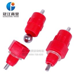 Wholesale Drinkers For Chickens - 500 PICS Automatic Chicken nipples drinkers Stainless Steel Ball Valve Poultry For breeder broiler chicken waterer equipment