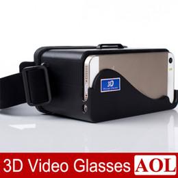 DIY 3D Google Karton Brille Private Cinema Virtual Reality Links und Rechts Auge 3D Video Geeignet Universal für iPhone 5 5 s 5c von Fabrikanten