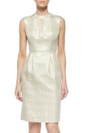 Wholesale Polka Dots Images - Fashion Polka Dot Print Women Sheath Dress Sleeveless Party Dresses 15091548E