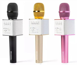 Wholesale Iphone Speaker Microphone - Magic Bluetooth Karaoke Microphone Wireless Professional Player speaker With Carring Case For Iphone Android