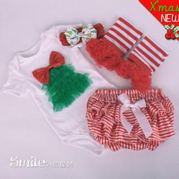 Wholesale Short Blue Skirt Cartoon - Wholesale-4PCS 2015 fashion baby girls summer clothes set Cartoon short sleeve jumpsuit Cute bow skirt Christmas newborn romper BC1328