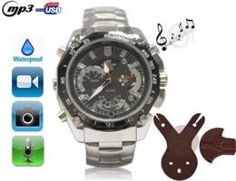 Wholesale Digital Spy Watches - New Spy HD Camera MP3 Watch with 8GB DVR HD Spy Hidden Digital Video Camera Camcorders