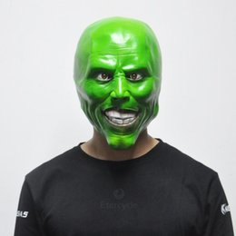 Wholesale Mask Latex Toy - The Mask Jim Carrey Masks Halloween Adult Latex Mask Movie Cosplay Toy Props Party Fancy Dress