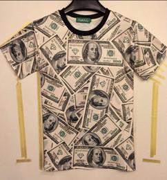 "Wholesale Funny Money - ""Money US Dollar"" 3D Printed T-Shirt Men Tee Shirt Funny Street wear"